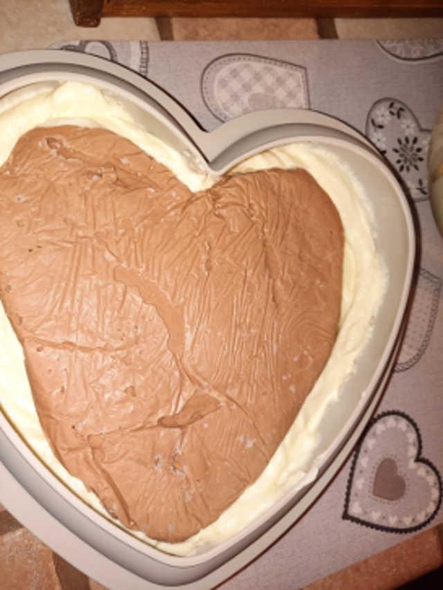 Mousse al cioccolato con inserto