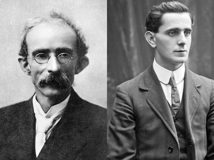 An Rialtas Sealadach, la Rivolta di Pasqua del 1916 Thomas James Clarke (Tomás Ó Cléirigh) e Seán Mac Diarmada