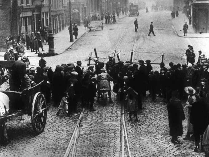 An Rialtas Sealadach, la Rivolta di Pasqua del 1916 immagine degli scontri