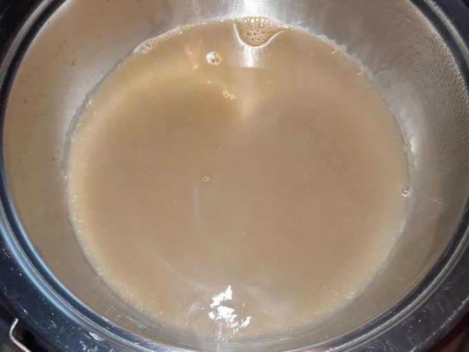 bisque filtrata per ricetta calamarata