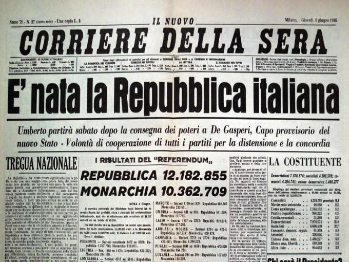 La Repubblica Italiana compie 75 anni