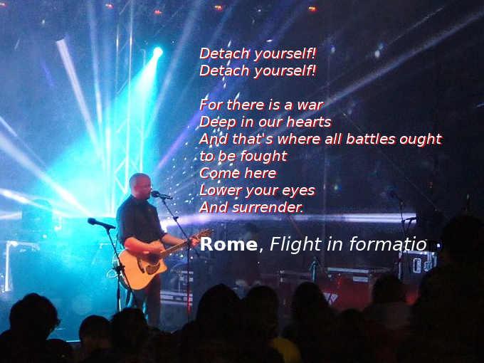 Testo di Flight in formation dei Rome