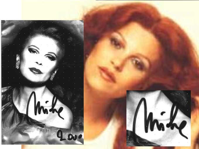 Le firme di Milva: nel 2000