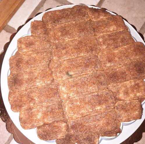 ultimo strato di pavesini per torta tiramisù moderna