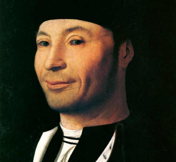 """Foto del ritratto """"d'ignoto marinaio"""" di Antonello da Messina"""