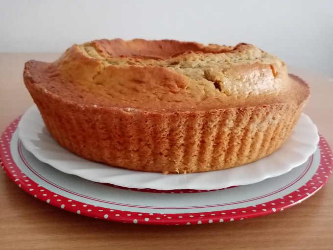 torta semi integrale con crema al pistacchio senza burro