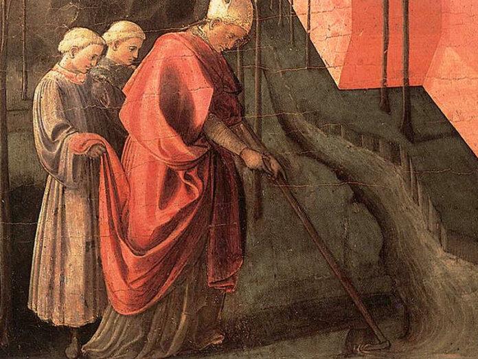 San Frediano di Lucca il Santo col rastrello