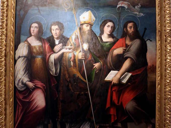 Quadro su San Frediano dei fratelli Raibolini o i Francia