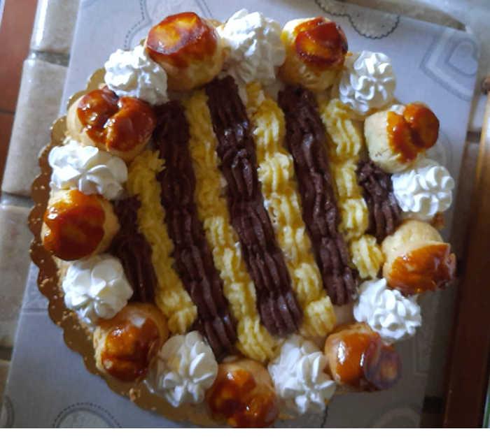 2 Torta Saint Honoré ricetta con crema chiboust golosissima