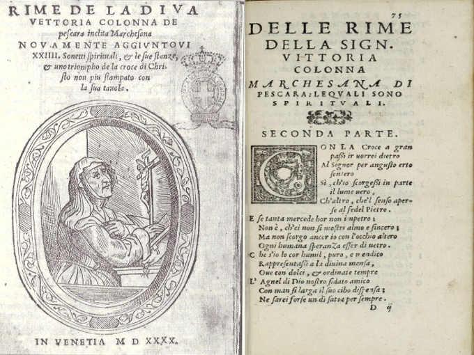 Poesie di Vittoria Colonna