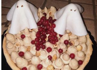 Crostata con frolla al mascarpone per Halloween ricetta senza glutine